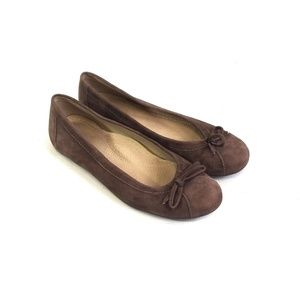 LL BEAN Womens Brown Suede Flats Loafers Size 7 M